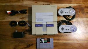 Super Nintendo with 2 Controllers and 1 Game SNES