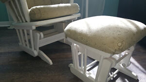 Nursery Room Glider (rocking chair) and footstool