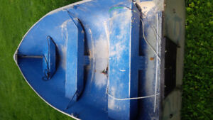 11.5 ft tin boat and outboard motor