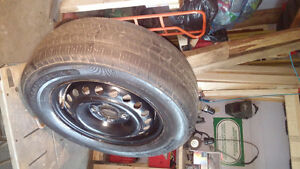 205 65 15 steel rims and tires.
