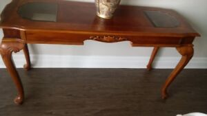 BEHIND THE SOFA TABLE