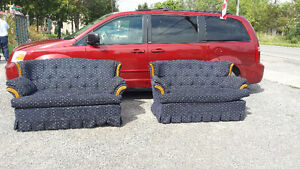 1 BLUE LOVE SEAT reduced
