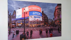 Grand cadre/tableau London, Piccadilly Circus, 93x140x1 cm