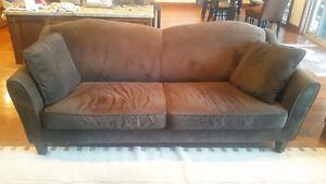 3 seat Sofa, brown velvet