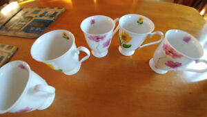 5 cups from stokes porcelaine tendre bone china dishwasher safe