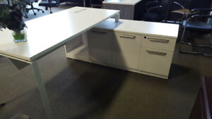 ***** L Shape Desk ***White and Asian Night***