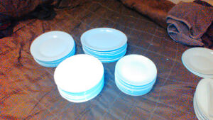 44 White and off white plates different sizes London Ontario image 1