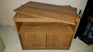 Wooden Swivel Top TV Stand