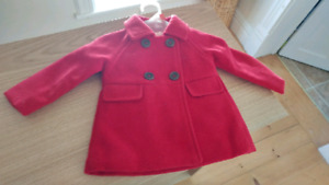 Red Pea Coat (3-6 months)
