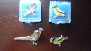Vintage bird brooches