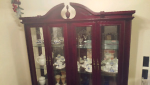 Real Cherry Wood cabinet - Buffet and Hutch combo