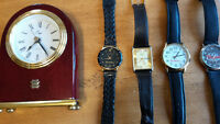 Watches $10.00 and Clock $15.00