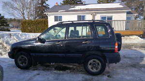 2002 chevy tracker as is.