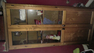 Ikea display cabinet with glass doors