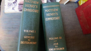 Matthew Henry's Commentary books,vol.1 and vol 3