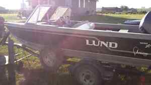 Lund fishing boat