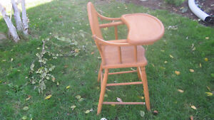 Wooden High Chair London Ontario image 2
