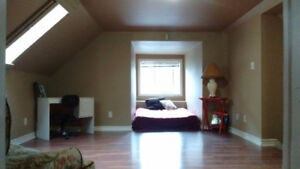 ON HOLD furnished xsmkg loft for working professional
