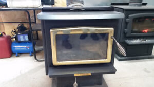 wood stove and 2 gal. compressor