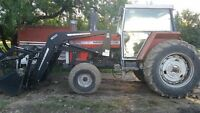 Massey Ferguson 3525 with Leon Grapple Loader