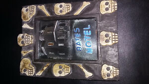 Halloween skull frame and storage box-hand-carved-
