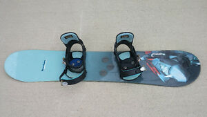 Snowboard with Ride Bindings