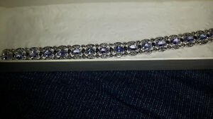 Tanzanite bracelet with 0.48 ctw of diamonds