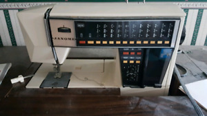 Janome Sewing Machine & table