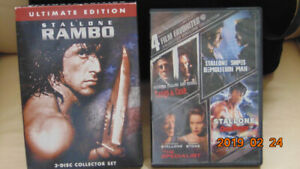 STALLONE AS RAMBO, STALLONE IN  4 FILM FAVORITE COLLECTION.