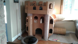 Cat castle house