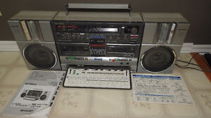Rare 1982 Sharp GF-990G Boombox Ghettoblaster Music Processor pi