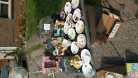 Yard sale items from 2.00 to 70.00