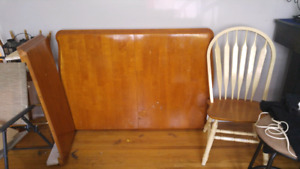 Large solid wood table and 4 chairs