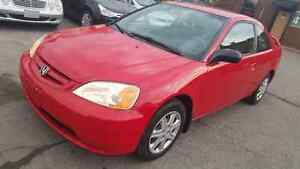 2003 HONDA CIVIC E-TESTED AND CERTIFIED