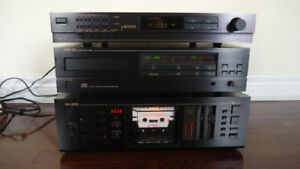 Nakamichi RX-202 tape deck + CD Player OMS-3A + Tuner ST-7