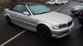 2002 02 BMW 318 2.0 Ci CONVERTIBLE.PX TO CLEAR.DRIVE AWAY BARGAIN.ANY.PX WELCOME