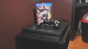 Mint condition PS4 Slim 500GB with controller and Persona 5