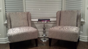 Brand new Slipper Wingback Accent Chair set of 2