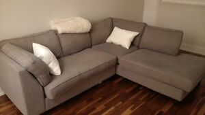 2 month old sectional couch great price