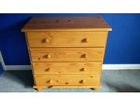 Pine Chest 4 Drawers