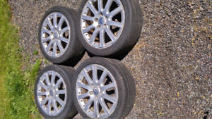 "17"" VW alloy wheels, 5 x 112 For sale."