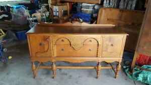 Solid Wood Buffet / Hutch / Serving Table - $175 - OBO