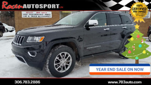 YEAR END SALE!! CERTIFIED 2016 JEEP GRAND CHEROKEE LTD - YORKTON
