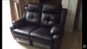 RECLINER 2 seats couch in  bonded leather STARTING 399$