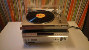 Turntable + stereo receiver