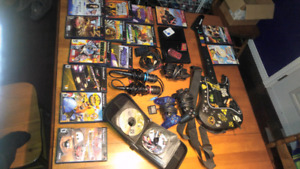 Ps2 with ganes and controllers