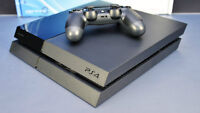 PS4 SYSTEM WITH 500 GB HARD DRIVE, WIRELESS CONTROLLER & 2 GAMES