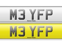 Bmw M3 private plate . On retention , all fees paid