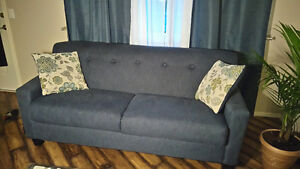 Lovely blue couch + 2 cushions