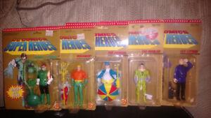 DC comics super heroes vintage figures